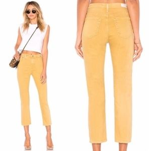 NWT AG The Isabelle High Rise Straight Crop Jeans